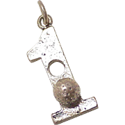 Hole in One, Golf Vintage Charm Three-Dimensional Sterling Silver Circa 1960's
