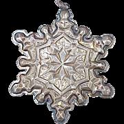 Vintage Sterling Silver Snowflake Ornament by Gorham 1971