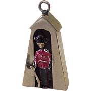 Queens Guard House Enameled Charm English 9K Gold Three Dimensional
