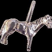 Equestrian Horse Vintage Charm Three-Dimensional Sterling Silver