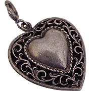 Vintage Heart Charm / Pendant circa 1960's Sterling Silver by Danecraft