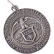 Vintage Charm Historical Society Early American Decoration Sterling Silver