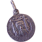 Vintage Vera Effigies, Holy Face of Jesus Charm, Sterling Silver