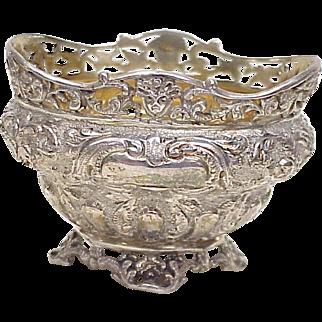 Goldsmiths & Silversmiths Co Victorian Master Salt Sterling Silver 1895 London