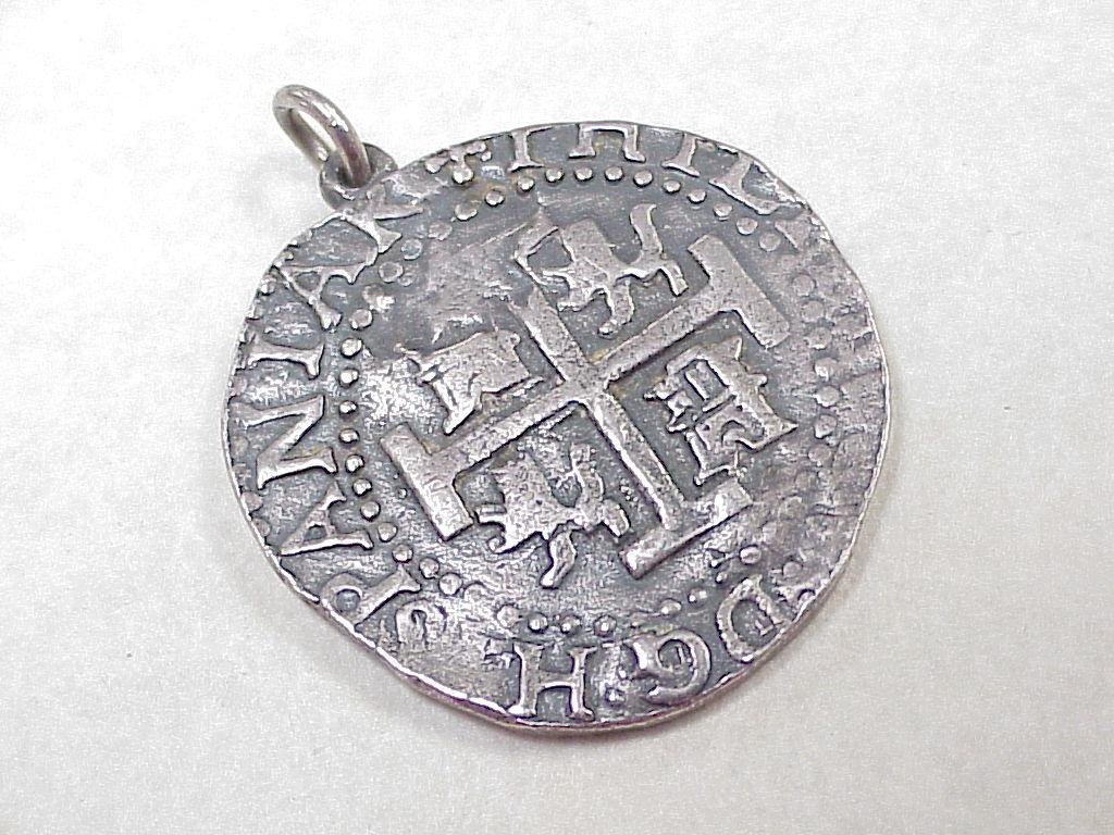 Rare James Avery Pieces Of Eight Pendant Medallion