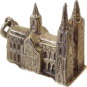 Koln / Cologne Cathedral / Germany Charm 8K Gold Three Dimensional