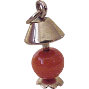 Vintage Tabletop Lamp Charm, Three Dimensional 10K Gold Circa 1950's