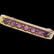 Victorian Lingerie Pin 14k Gold & Amethyst