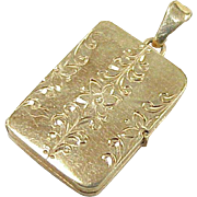 Vintage Book Locket Charm / Pendant 9k Gold circa 1950-60's