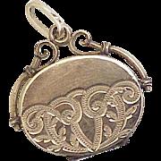 Victorian Era Locket Pendant or Fob Charm 10K Gold