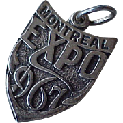 Montreal Expo 1967 Vintage Charm Sterling Silver
