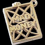 Mad Money Opening Vintage Charm 14K Gold circa 1950-60's