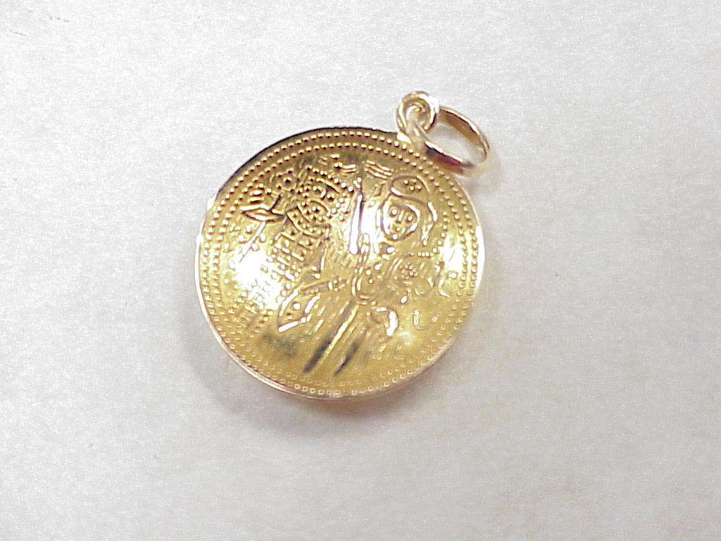 Vintage 14k Gold Travel Charm Mayan Inca Coin Copy