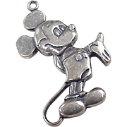 Vintage Mickey Mouse /  Walt Disney Productions Sterling Silver circa 1970's