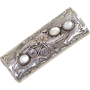 Native American Crafted Bic Lighter Case Sterling Silver Mother of Pearl