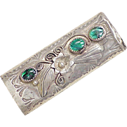 Native American Crafted Bic Lighter Case Sterling Silver Paua Shell Accent