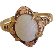 Victorian Opal Ring 10K Yellow & Rose Gold