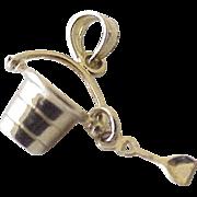Vintage Sand Pail & Shovel Moving Charm(s) 14K Gold