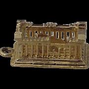 Vintage Parthenon Charm 18K Gold circa 1950's Three Dimensional
