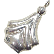 Vintage Miniature Perfume Pendant Sterling Silver, Mexico