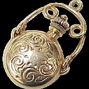 Edwardian Era 14k Gold Miniature Perfume Pendant / Charm