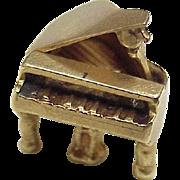 Vintage Grand Piano Moving Charm 14K Gold circa 1950's