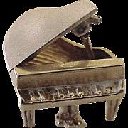 Vintage Moving Grand Piano Charm 14K Gold circa 1950's