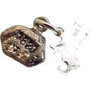 Vintage Plymouth Rock Massachusetts Charm Sterling Silver circa 1960's