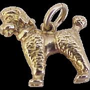 Vintage Poodle Dog Charm 14K Gold Three Dimensional circa 1960's