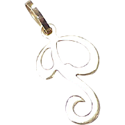 "Vintage Letter / Initial ""P"" Charm 14K Gold"