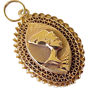 Nefertiti Egyptian Queen Charm/Pendant 18K Gold Circa 1960-70's