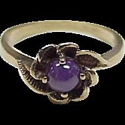 Petite Star Ruby Ring 10K Rose Gold Circa 1930-40's