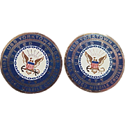 Historic Ronald Reagan USS Yorktown Presidential Gift Presentation Cufflinks 14K Gold