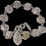 Vintage Religious Bracelet Silver Plate circa 1942