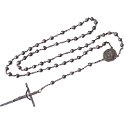 Vintage Rosary Sterling Silver circa 1940's