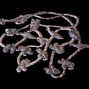 Wild Animal Necklace Sterling Silver ~ Tiger, Whale, Panda, Monkey, Gorilla, Elephant & Rhino