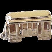 Vintage San Francisco Cable Car Charm 14K Gold Three Dimensional Circa 1960's