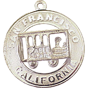 Vintage San Francisco Cable Car Charm Sterling Silver Circa 1970's