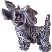 Moving Scotty Dog Vintage Charm Three Dimensional Sterling Silver, Scottish Terrier