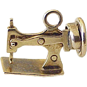Mechanical Sewing Machine Vintage Charm Three-Dimensional 14K Gold Circa 1950's