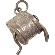 Moving Pencil Sharpener Vintage Charm Three-Dimensional Sterling Silver Circa 1960's