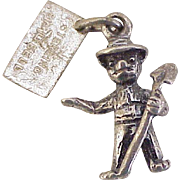 Vintage SMOKEY the Bear Charm Sterling Silver, Bell Trading circa 1950's