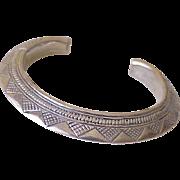 Vintage Native American Rattle Snake Bracelet Sterling Silver