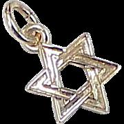 Star of David Tiny Charm 14K Gold circa 1970's