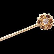 Victorian Diamond Stick Pin 10k Gold