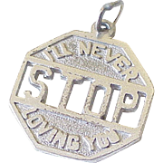 Romantic Stop Sign Vintage Charm Sterling Silver