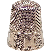 Antique Sewing Thimble 10k Gold