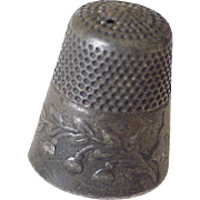 Lilly of the Valley Sterling Silver Sewing Thimble