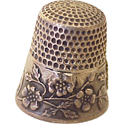 Waite Thresher Co. Antique Sewing Thimble Sterling Silver