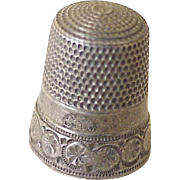 Simons Brothers Antique Sewing Thimble Sterling Silver